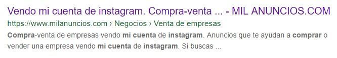 vendo instagram con fans