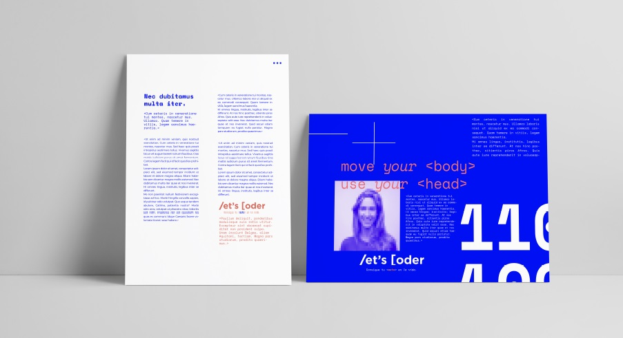 leaflet brochure letscoder